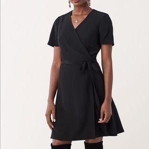 DVF Black Savilla Wrap Dress